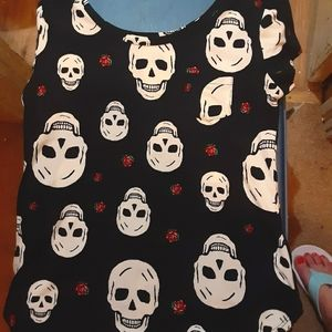 """BUNDLE ONLY """"Day Of the Dead"""" Top NO Boundaries"""